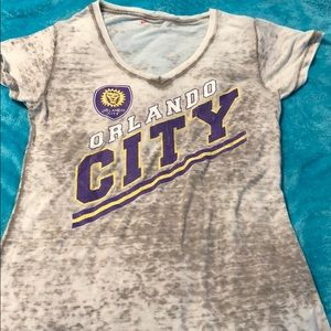 Tops - Orlando City Soccer distressed burnout T-shirt